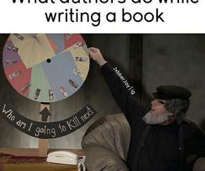 book, author, and funny image