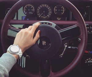 car, luxury, and girl image