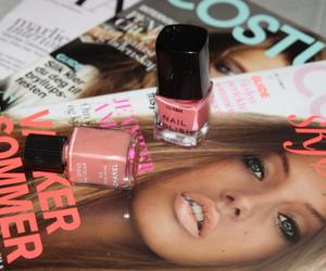 magazine, nail polish, and chanel image