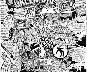 drawing and green day image
