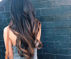 curls, long hair, and curly hair image
