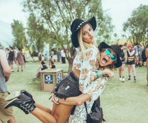 friends, coachella, and festival image