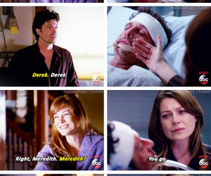 in love, merder, and meredith grey image