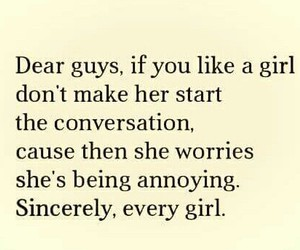 conversation, girl, and guy image