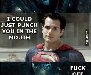 batman, funny, and superman image