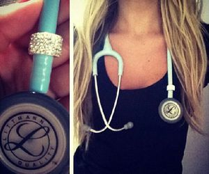 blue, doctor, and stethoscope image