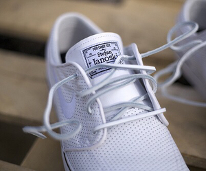 white, beautiful, and shoes image