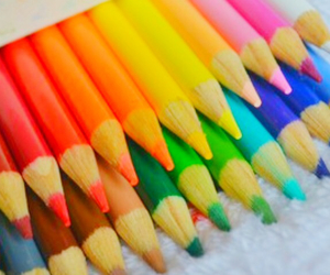 colorful and pencil image