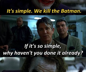 batman, joker, and movie image
