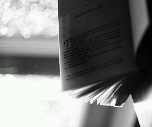 black&white, book, and read image