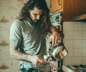 tattoo, beard, and hair image