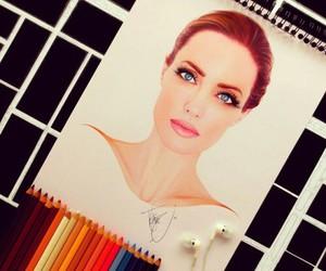 drawing and Angelina Jolie image