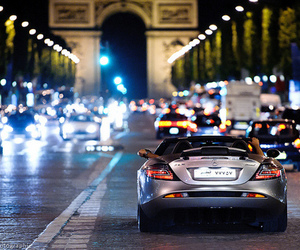 car, paris, and light image