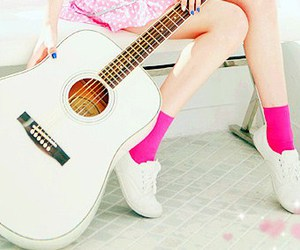 guitar and pink image