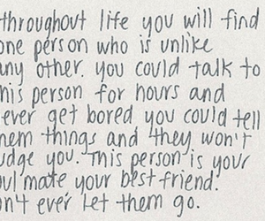 quote, soulmate, and best friends image