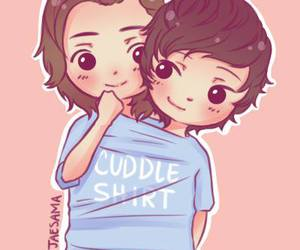 larry stylinson, cute, and one direction image