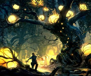 arbre, lumiere, and aventurier image