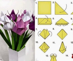 flowers, origami, and diy image
