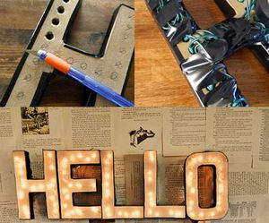 diy, hello, and lights image