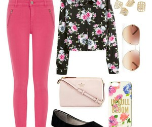 floral, outfits, and pink image
