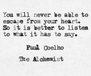 quote, heart, and the alchemist image