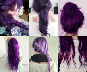 colorful, hair, and purple image