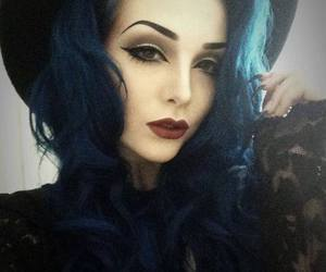 blue, gothic, and blue hair image