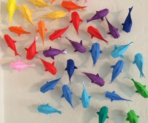 origami, diy, and rainbow image