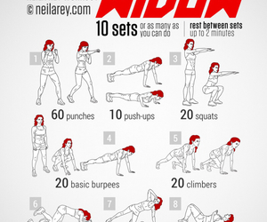 fitness, workout, and black widow image