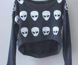alien, grunge, and sweater image