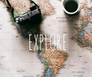 map, camera, and explore image