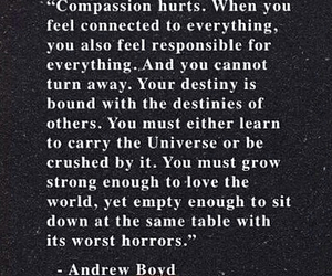 quote, compassion, and life image
