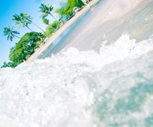 beach, summer, and water image