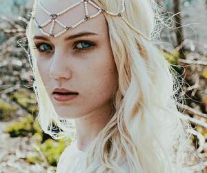 beautiful, blonde, and blue eyes image