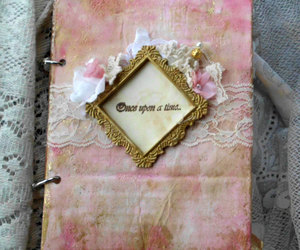 decoration, vintage, and wedding guest book image