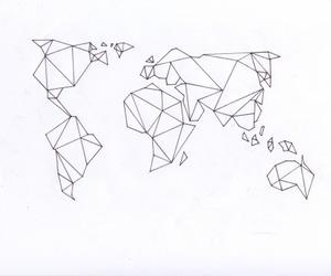 world, map, and art image
