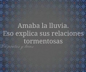 frases, lluvia, and amor image