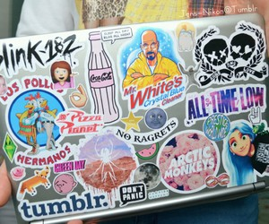 tumblr, sticker, and laptop image