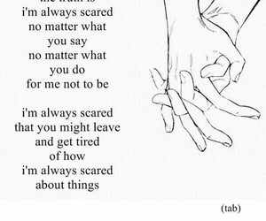 quote, scared, and love image