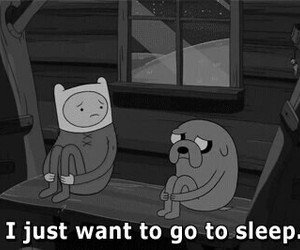 sleep, adventure time, and JAKe image