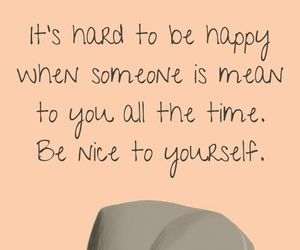 be nice, yourself, and love image
