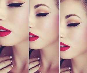 makeup, make up, and eyeliner image