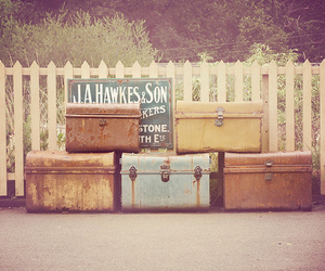 vintage, travel, and suitcase image