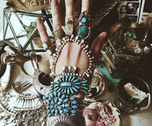 boho, hippie, and rings image