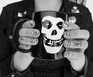 misfits, skull, and tattoo image