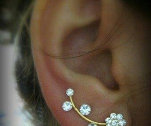 earrings, flowers, and jewelry image