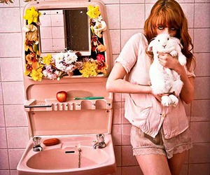 florence and the machine, pink, and rabbit image