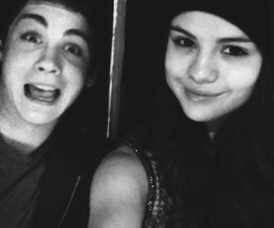selena gomez and logan lerman image