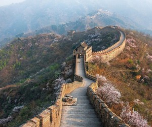 great wall of china and travel image