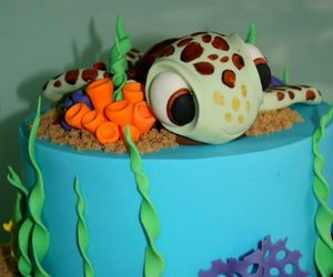 cake, nemo, and disney image
